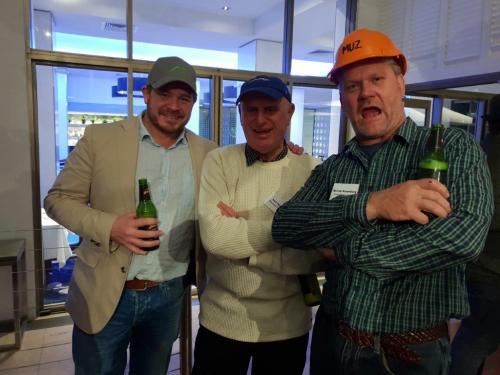 Toby Benjamin, (VIP Closures), Ken Pearson (Plasdene Glass-Pak) Murray Rosenberg
